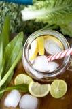 Top of lemon juice mug Stock Image