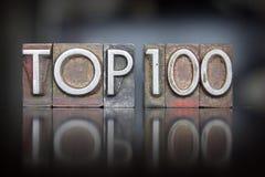 Top 100 Letterpress Στοκ εικόνες με δικαίωμα ελεύθερης χρήσης