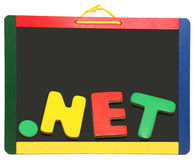 Top Level Domain Dot NET On Chalkboard Stock Photography