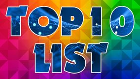 Top 10 List 004 - Ready Graphic. Colorful Text with Colorful Background royalty free illustration