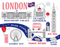 Top London Attractions Stock Photography