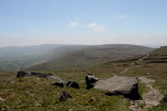 At the top of Kinder Scout Peak District, Derbyshire Royalty Free Stock Photos