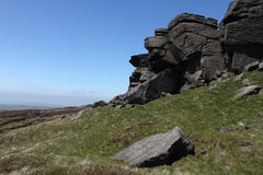 At the top of Kinder Scout, Peak District, Derbyshire Stock Images