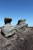 At the top of Kinder Scout, Peak District, Derbyshire Stock Photography