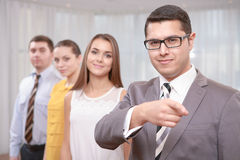 Top manager at the meeting Royalty Free Stock Images