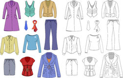 Top manager woman clothes collection Royalty Free Stock Photography
