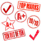 Top marks Stock Image