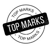 Top Marks rubber stamp. Grunge design with dust scratches. Effects can be easily removed for a clean, crisp look. Color is easily changed Royalty Free Stock Image
