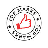 Top Marks rubber stamp. Grunge design with dust scratches. Effects can be easily removed for a clean, crisp look. Color is easily changed Royalty Free Stock Photos