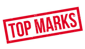 Top Marks rubber stamp Royalty Free Stock Photo
