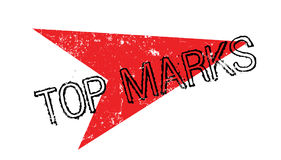 Top Marks rubber stamp Stock Photography