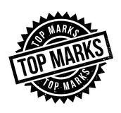 Top Marks rubber stamp. Grunge design with dust scratches. Effects can be easily removed for a clean, crisp look. Color is easily changed Stock Photography