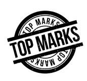 Top Marks rubber stamp. Grunge design with dust scratches. Effects can be easily removed for a clean, crisp look. Color is easily changed Stock Image
