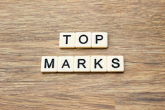 Top Marks Stock Photo