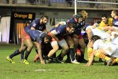 Top matchen USAP för rugby 14 vs TÄVLINGS- METRO 92 Royaltyfri Bild