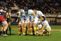 Top matchen USAP för rugby 14 vs TÄVLINGS- METRO 92 Royaltyfri Foto