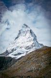 The top of the Matterhorn. Pennine Alps stock photography