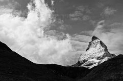 The top of the Matterhorn. Switzerland stock images