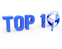 Top 10 Means Search Best And Winning Stock Photo