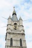 Belfry in historical center of Ghent, Belgium Stock Images