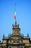 Top of Mexico City Metropolitan Cathedral. Mexico Stock Photo