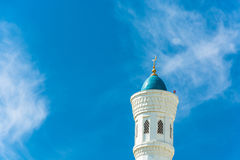 The top of the minaret of the mosque Minor in Tashkent, Uzbekist Royalty Free Stock Photography