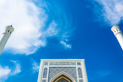 The top of the minaret of the mosque Minor in Tashkent, Uzbekist Royalty Free Stock Images