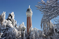 Top of Minaret in Zheleznovodsk. Stock Photo