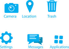 Top 6 mobile icons Royalty Free Stock Image