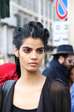 Arora bhumika Top model Milano,milan fashion week streetstyle autumn winter 2015 2016 Stock Photos