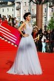 Top model Ravshana Kurkova en XXXVI el festival de cine del International de Moscú Imágenes de archivo libres de regalías