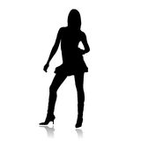 Top model silhouette Royalty Free Stock Photography