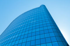 The top of modern high rise building. Blue sky. Toning Royalty Free Stock Image