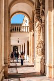 The university town Coimbra, Portugal. On top of the Mondego mountain lies the oldest Portuguese university Royalty Free Stock Image