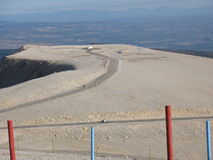 At the top of Mont Ventoux Stock Images