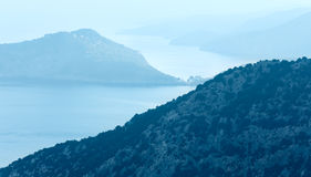 Top morning sea view (Greece,  Kefalonia). Stock Images