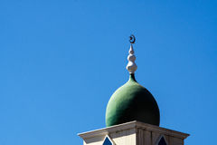 The top of a mosque minaret with a cupola dome Royalty Free Stock Image