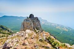 The top of Mount Ai-Petri. On the Crimean peninsula stock image