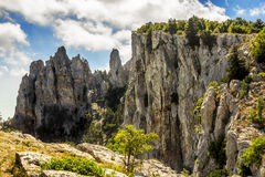 The top of Mount Ai-Petri in Crimea on a  sunny day Royalty Free Stock Photos