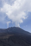 The top of Mount Etna, Sicily. The smoking top of Mount Eta, in Sicily Royalty Free Stock Image