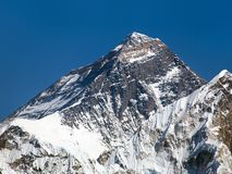 Top of Mount Everest from Gokyo valley Royalty Free Stock Photography