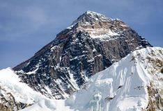 Top of Mount Everest from Kala Patthat Royalty Free Stock Image