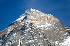 Top of Mount Everest from Kala Patthat Stock Photos