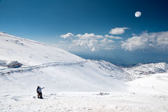 The top of Mount Hermon. Northern Israel, the highest point. Border with Syria. Ski Center Royalty Free Stock Images