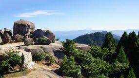 On top of mount Misen on Miyajima Island Royalty Free Stock Image