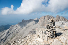 On the top of Mount Olympus Stock Image