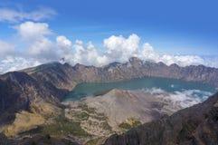 Top of Mount Rinjani, Lombok Indonesia Stock Image