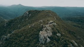 On top of Mount Roland in Tasmania during the day. View on top of Mount Roland in Tasmania during the day stock footage