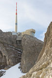 Top of mount Saentis, Switzerland Royalty Free Stock Photo