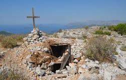 Top of mount Srd Dubrovnik Croatia Stock Photos